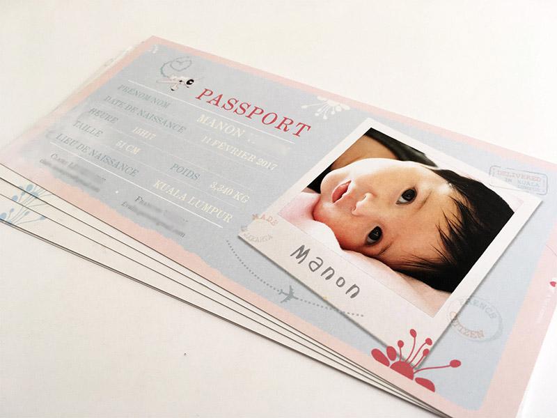 faire part naissance voyage passeport
