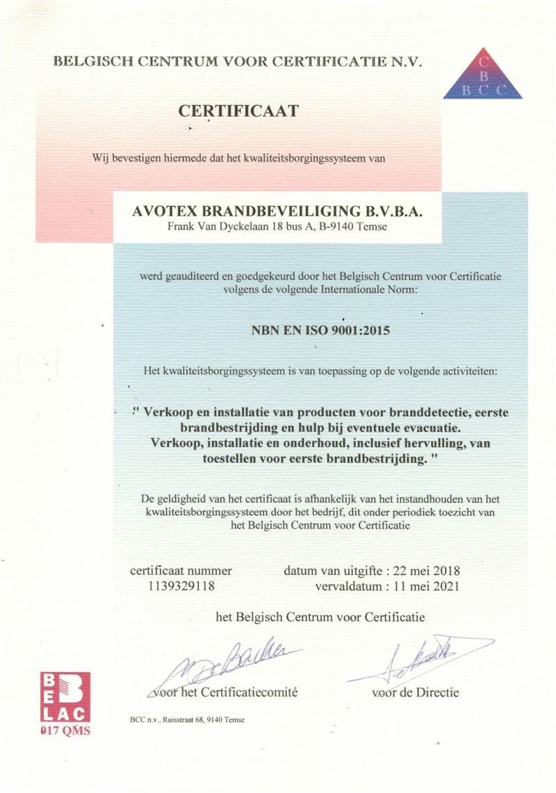 Certificaat ISO 9001 - 2015 (tot 2021) (800 x 1141)