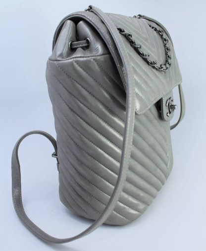 Chanel Chevron Quilt Backpack