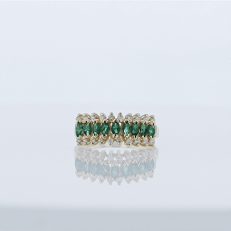 Emerald Ladies Ring