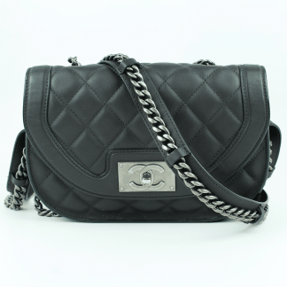 Chanel Aged Calfskin Saddle Bag