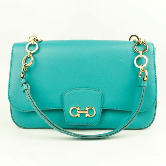 Ferragamo Bree Acqua Shoulder Bag