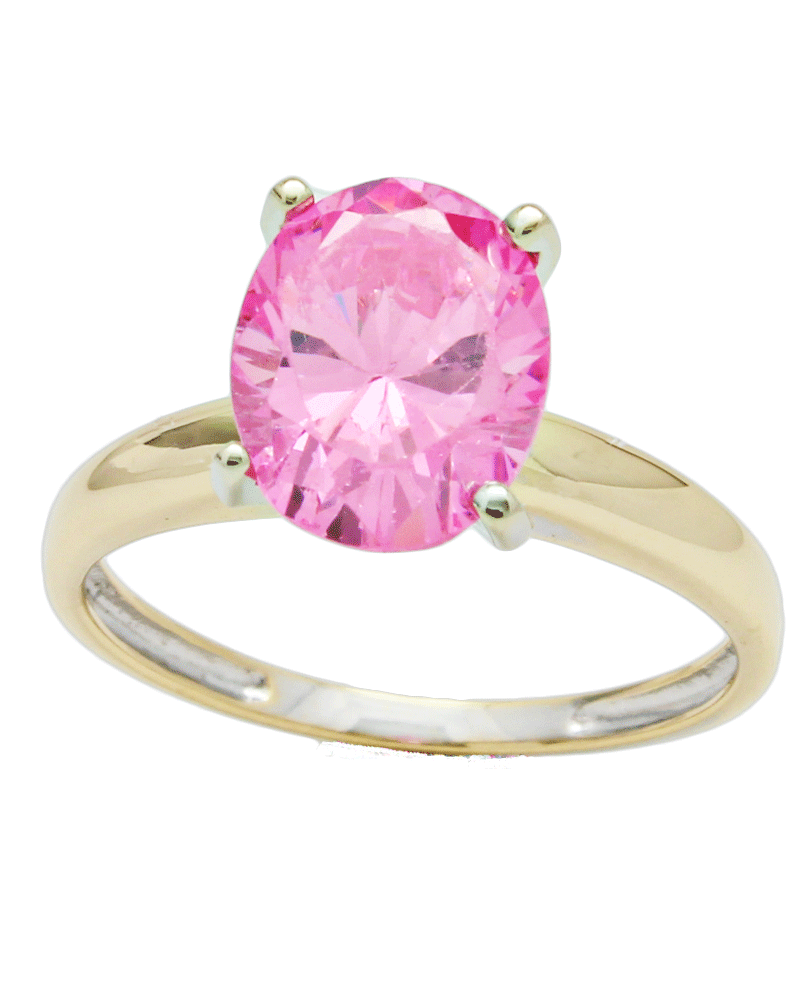 rings dia secondhand ring gold topaz pink single diamond stone