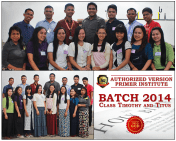 AVPI Batch 2014 Class Timothy and Titus