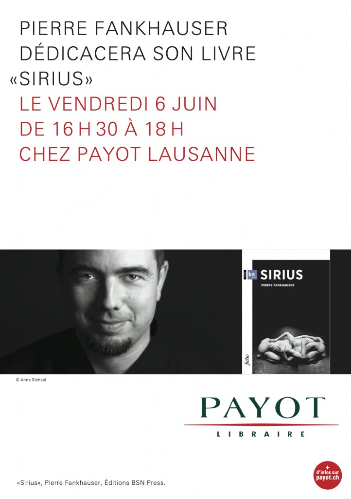 Dédicace Sirius Payot Lausanne