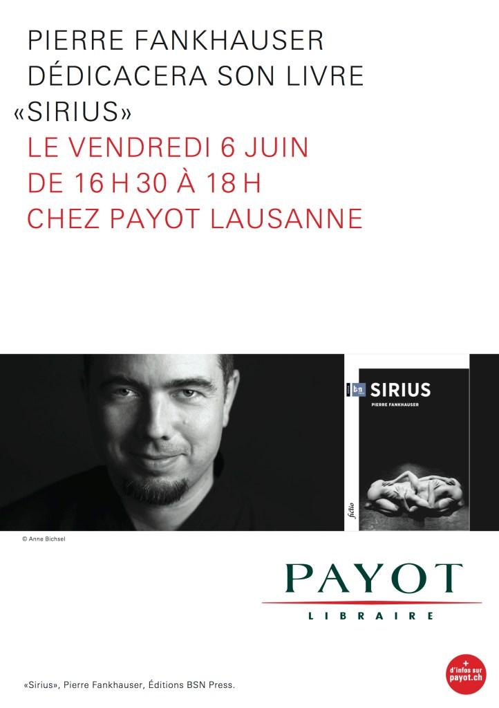 Dédicace Sirius Payot Lausanne