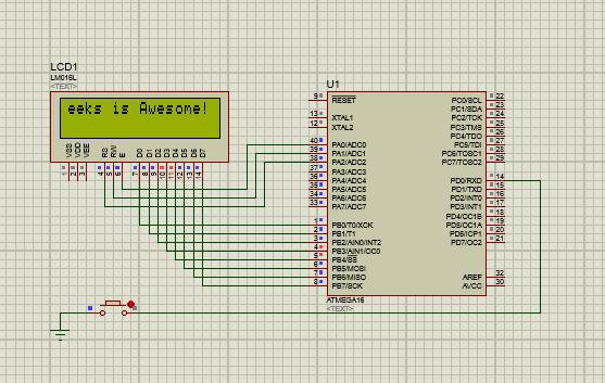 Scrolling in 16x2 LCD