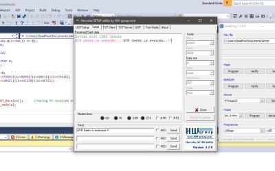 Sending Data via UART