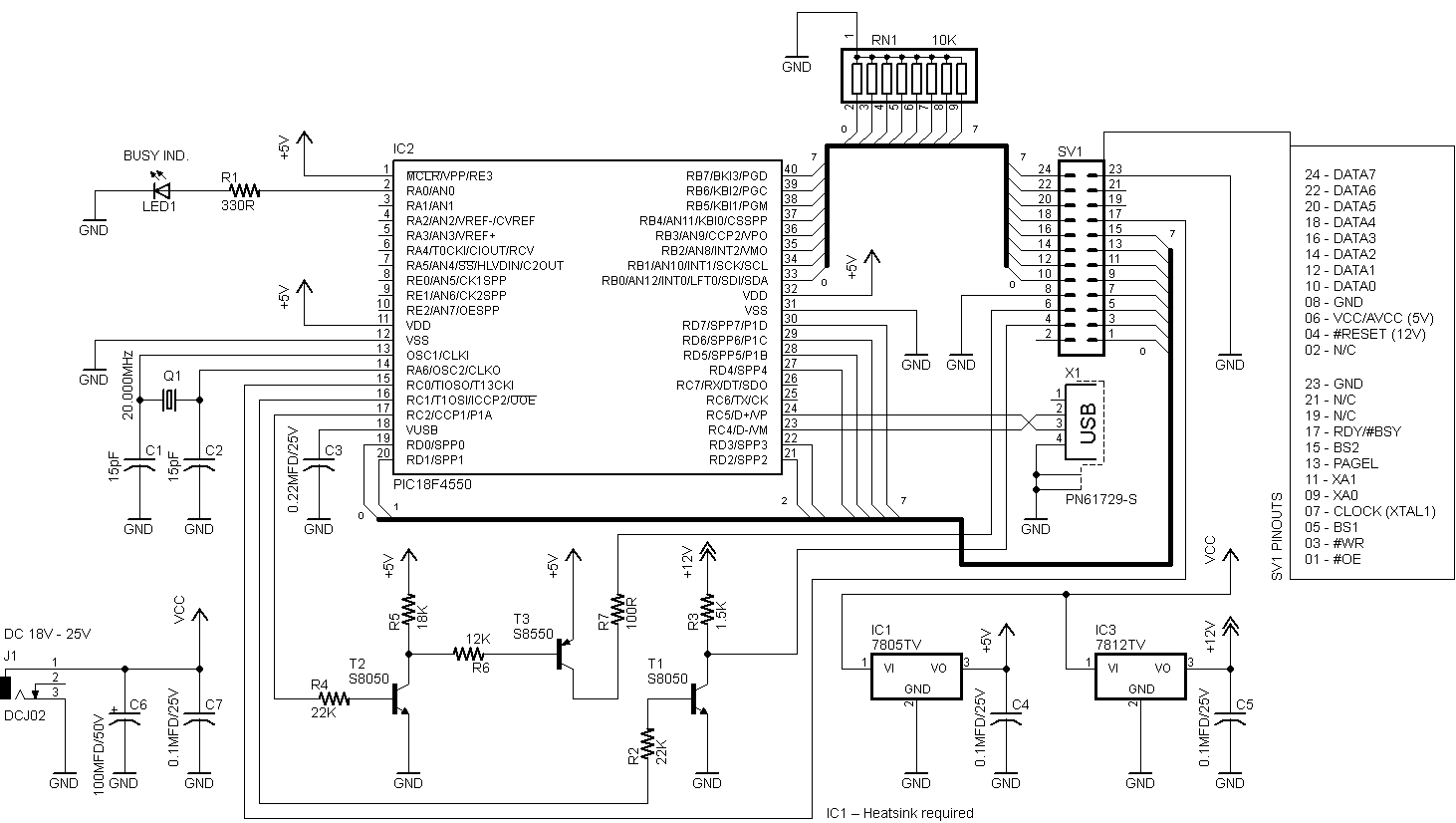 usb pic programmer schematic diagram