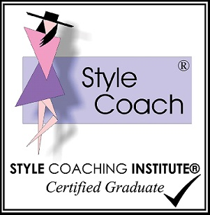 button with logo of Style Coaching Institute indicating Avril Dickson is a certified graduate