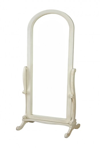 full length, stand alone wooden mirror