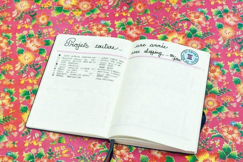 Collection - mes projets de couture dans mon Bullet Journal