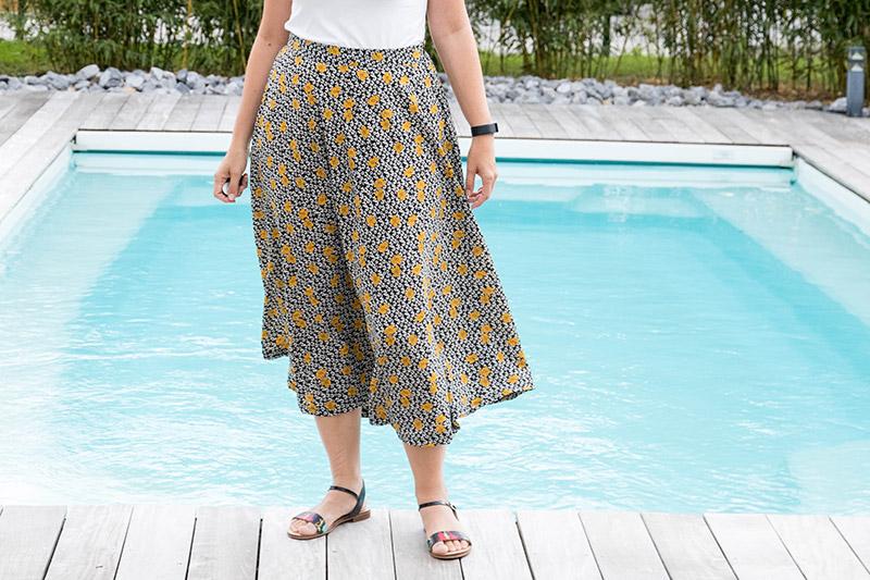 Ma jupe longue cousue main - Avril sur un fil