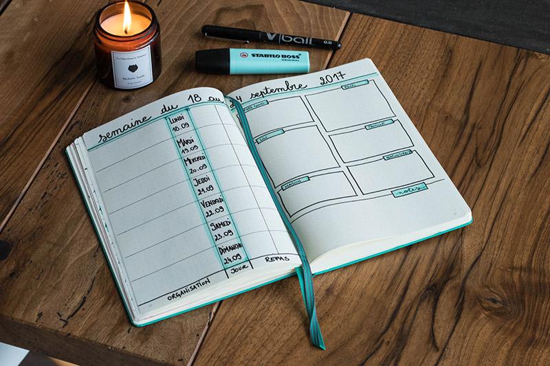 Planning mensuel Bullet journal pro et perso - Avril sur un fil