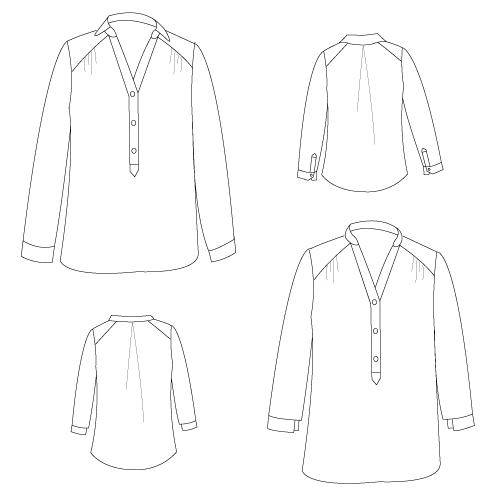 J'ai cousu la blouse miss Paulette de Gasparine - Avril sur un fil