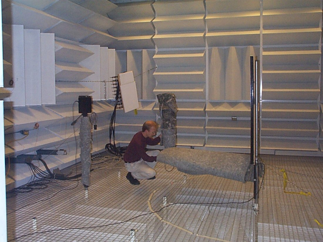Diffusion testing in anechoic chamber