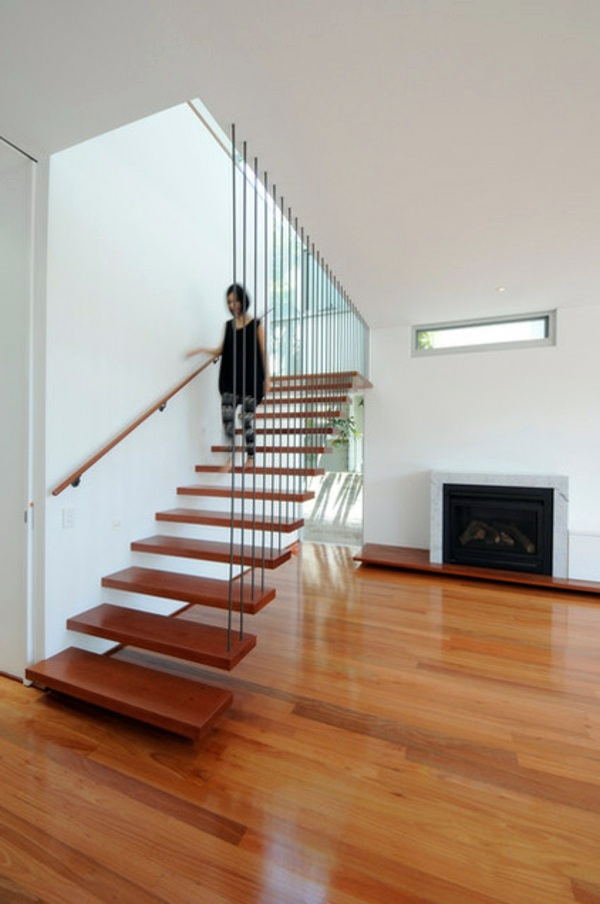 Modern Wood Stairs  Move & Relax  Interior Design Ideas