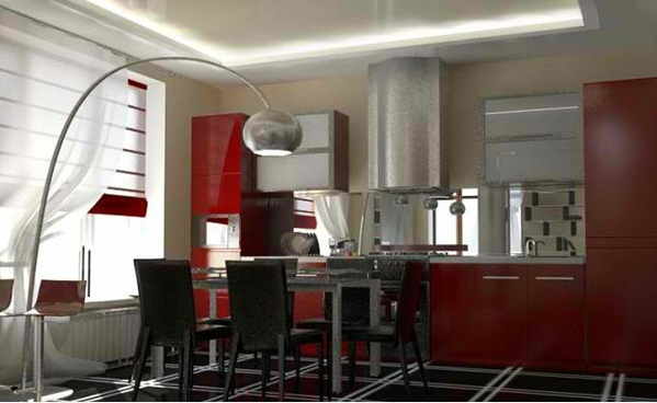 Kitchen Island With Stools Ideas 15 Gorgeous Dining Room In Red, White And Black | Interior