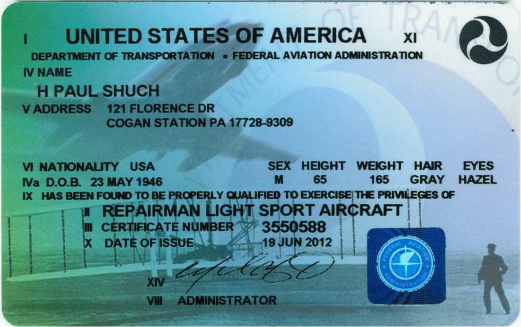 Faa Private Pilot Certificate