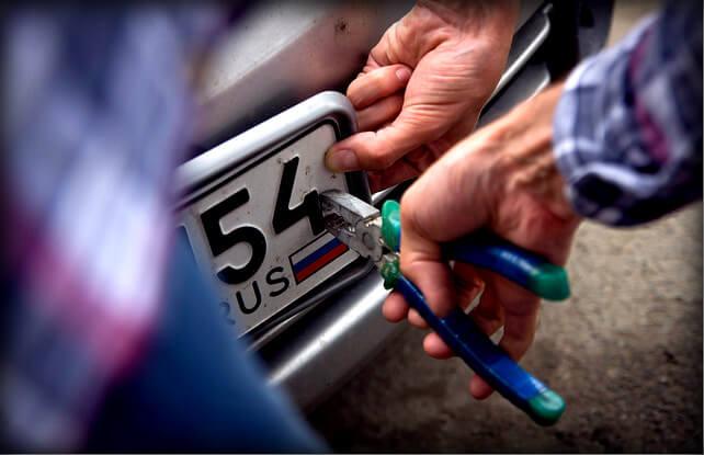 Что делать, если украли номера с автомобиля{q} Когда сотрудники гибдд могут снять номера
