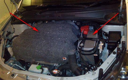 موتور گرم و باتری