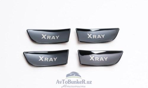 Хром пакет в ручки дверей Lada Xray