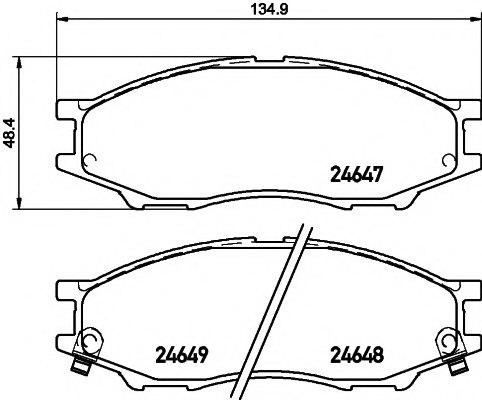 Тормозные колодки для NISSAN ALMERA Classic (B10) 1.6 16V