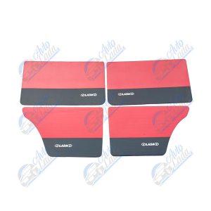 2101 Lada univerzális műbőr ajtókárpit garnitúra piros-fekete