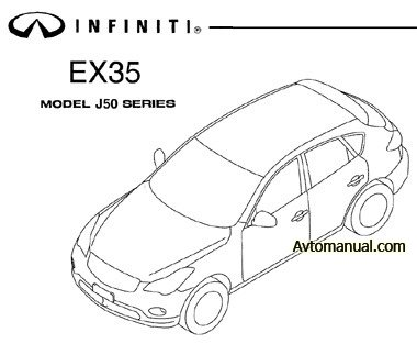 Руководство по ремонту Infiniti EX35 J50 с 2008 года