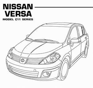 Руководство по ремонту Nissan Versa (Tiida, Latio) C11 с