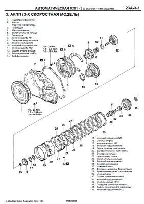 Скачать ремонт АКПП Mitsubishi F3A2, F4A2, F4A3, W4A3, F4AC1