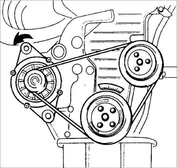 Ремонт Kia Sephia 1995-2001: ремень привода генератора