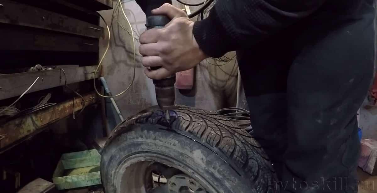 Tire OSHIPOVKA Doe het zelf zonder een pneumaticistool
