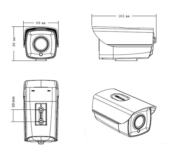 AC-W79-4N1-8P36 AHD1080P/TVI/CVI/Analog Bullet Camera / 2