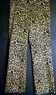 Stretchy leopard print slacks. Size 10.