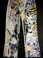 Animal print spandex slacks size 12