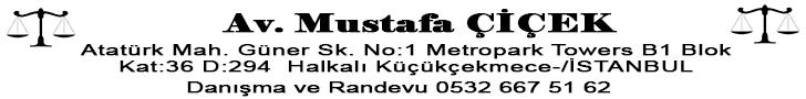 Avukat Mustafa ÇİÇEK