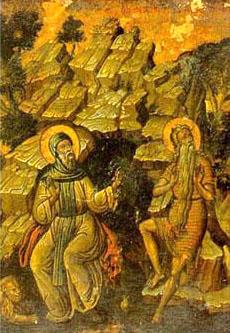 Павел Фивейский и Антоний Великий