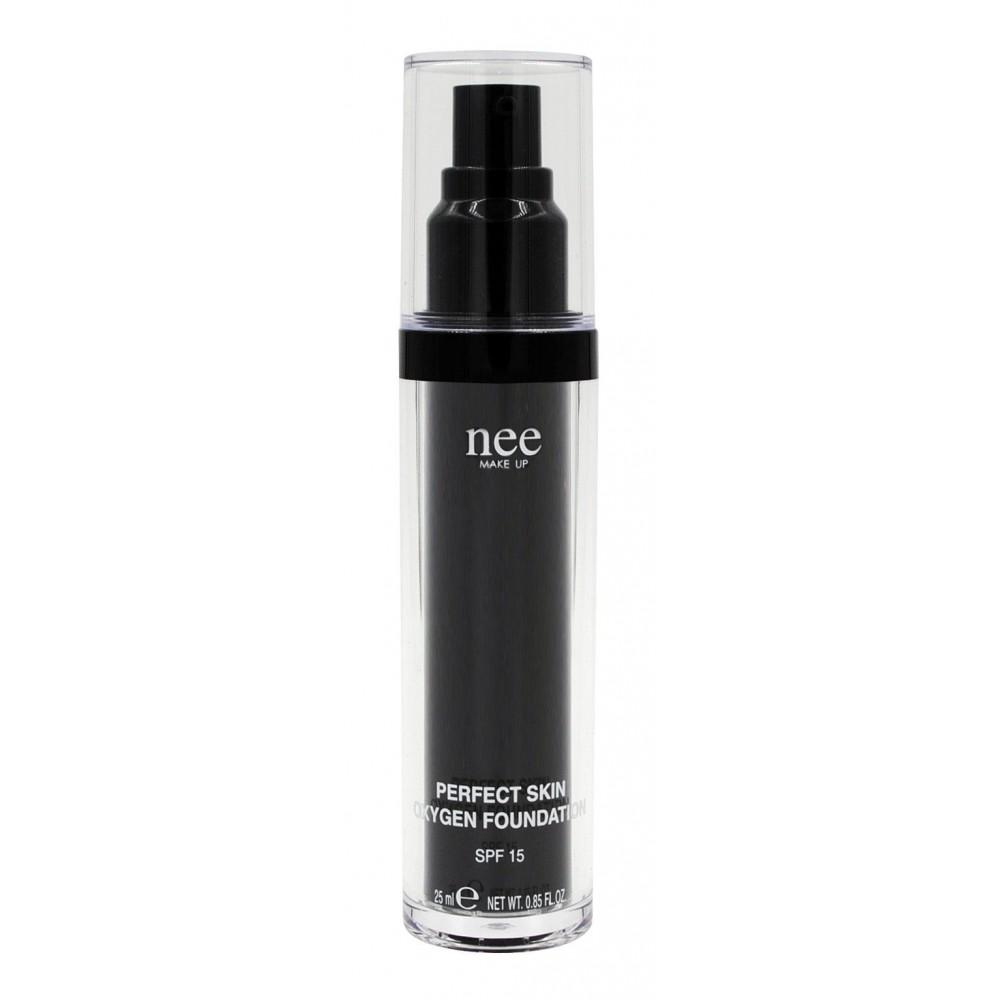 Nee Make Up - Milano - Perfect Skin Oxygen Foundation SPF 15 - Fondotinta Liquidi - Viso - Make Up Professionale - Avvenice