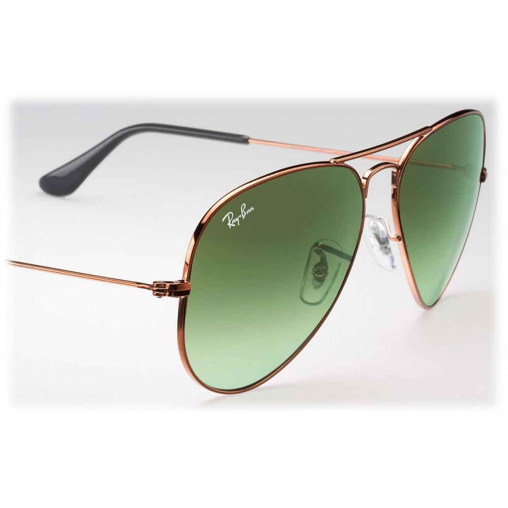 Ray-Ban - RB3025 9002A6 - Original Aviator Gradient - Bronzo-Rame - Lente Verde Sfumata - Occhiali da Sole - Ray-Ban Eyewear - Avvenice