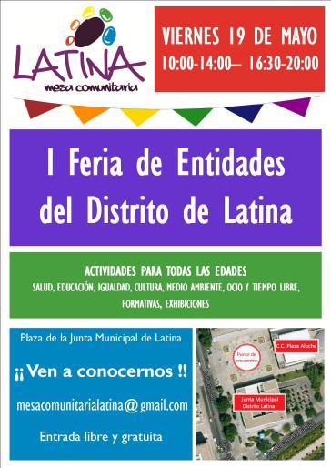 cartel I_feria de entidades Latina