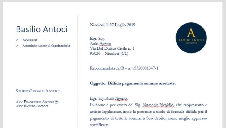Raccomandata AR - validità legale - Avvocato Basilio Elio Antoci a Nicolosi e Catania