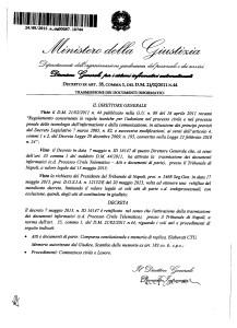 DecretoAvvioPCTNapoliParteContenziosoLavoro