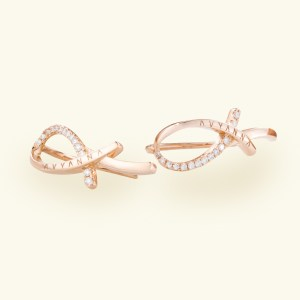 Freedom Rose Gold Earring Pair with 28 Diamonds