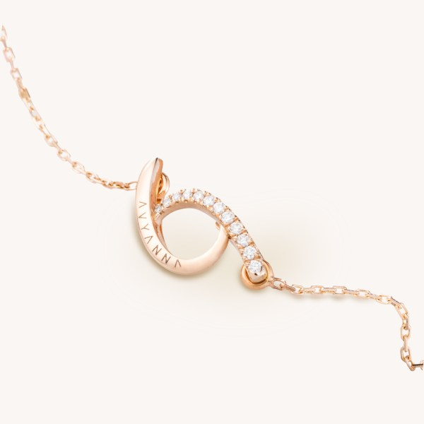 """Resilience 12 Diamonds Rose Gold Necklace (Charm & Chain) 16"""" 1"""