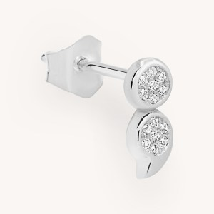 SemiC White Gold Diamond Earring with 14 Diamonds
