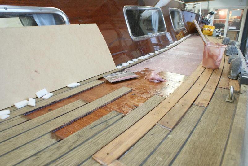 teakdeck reparatur aw marine bootsbau. Black Bedroom Furniture Sets. Home Design Ideas