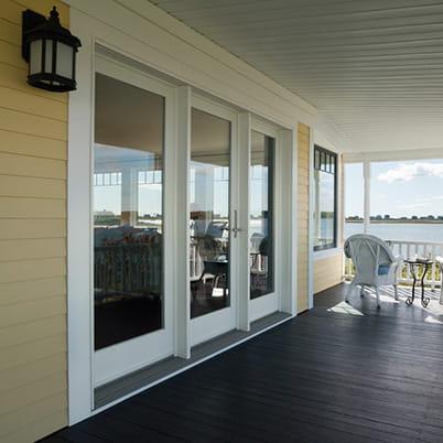 a series hinged patio door