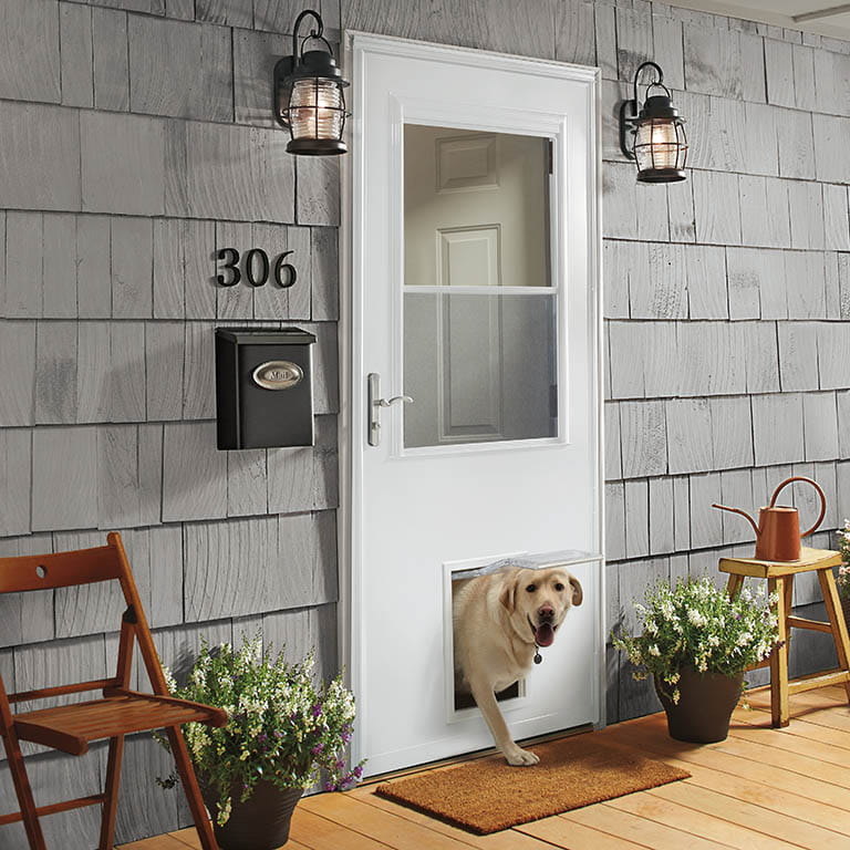 storm door with pet door andersen