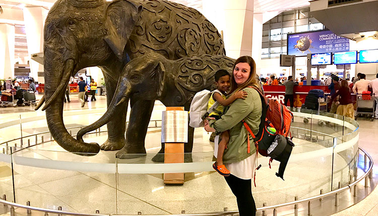 Welcome Home from India:  Rachel Walter and Zeke!